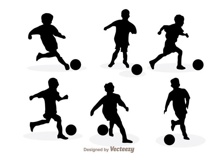 700x490 Soccer Silhouette Vector Free