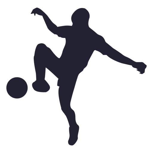 512x512 Soccer Player Silhouette 5