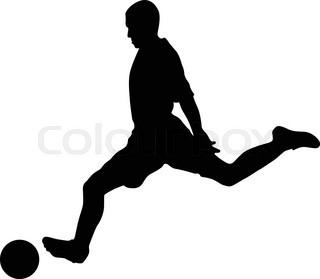 320x279 Soccer Players Silhouettes Stock Vector Colourbox