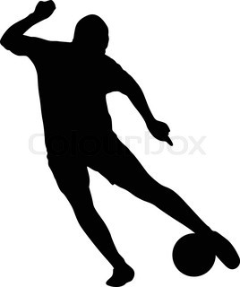 268x320 Vector Silhouettes Of Soccer Players Stock Vector Colourbox