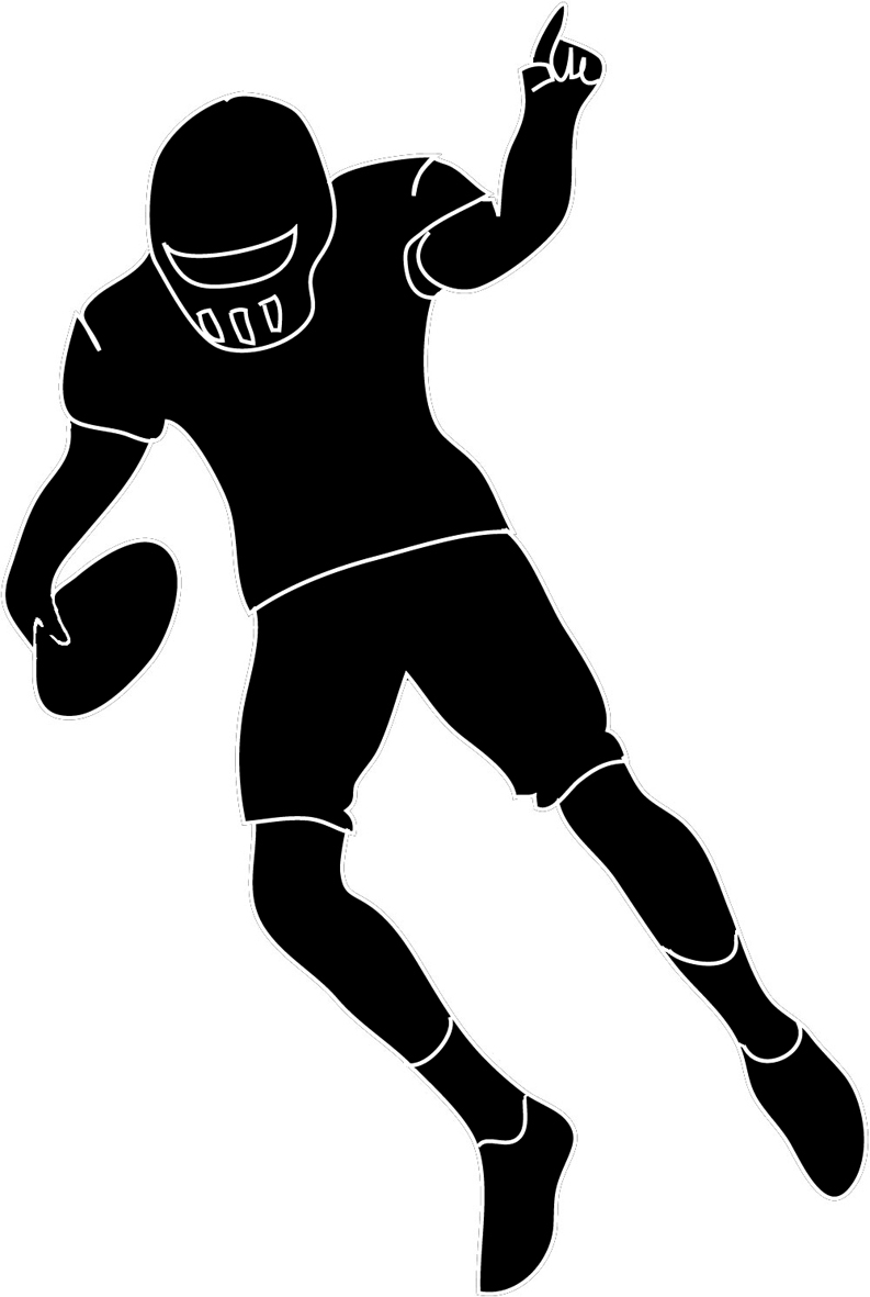 793x1181 Clipart Football Players Silhouette