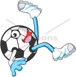 318x320 Creative Soccer Player Cartoon Bicycle Kick
