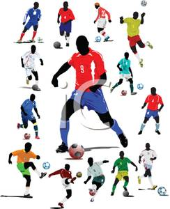 244x300 Free Clipart Image Different Men Playing Soccer