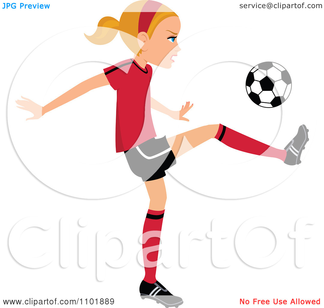 1080x1024 Girl Soccer Players Clipart