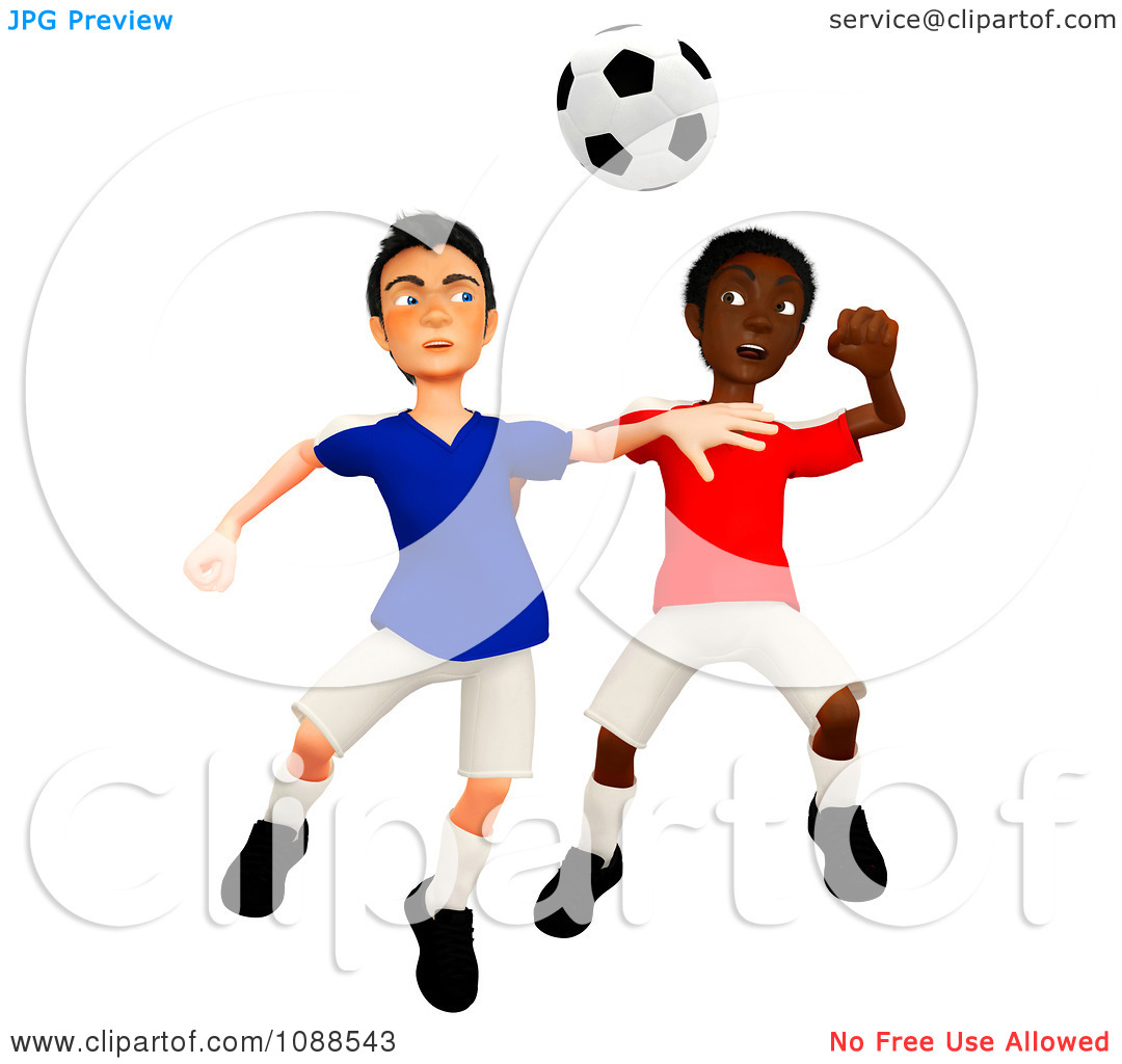 1080x1024 Players On Soccer Field Clipart