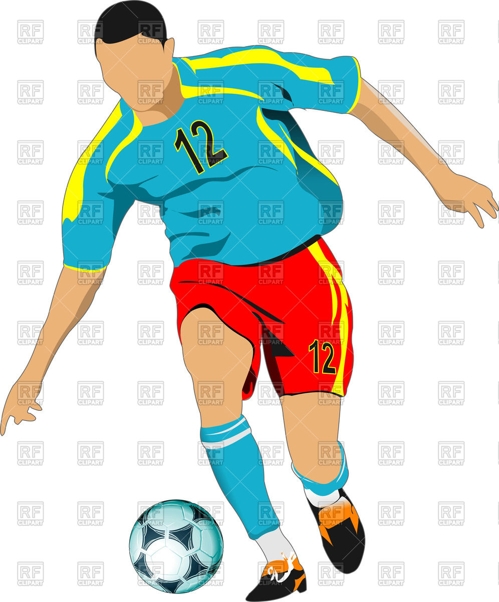 996x1200 Silhouette of Soccer player with ball in action Royalty Free