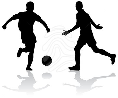 400x333 Soccer Player Silhouette Clipart
