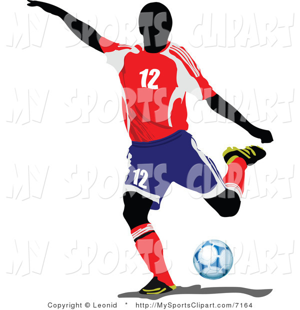 600x620 Sports Clip Art Of A Soccer Athlete By Leonid