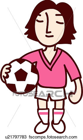 279x470 Clipart of people, soccer ball, soccer player, holding, uniform