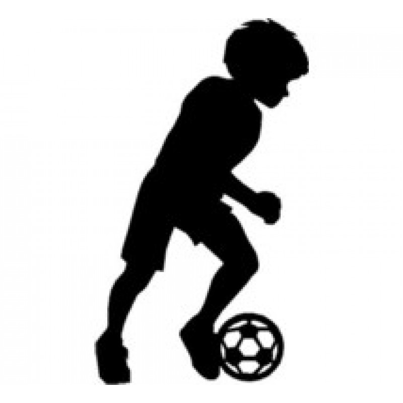 800x800 Soccer Boy Sport Wall Decor Art