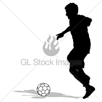 325x325 Soccer Football Player Illustration · GL Stock Images