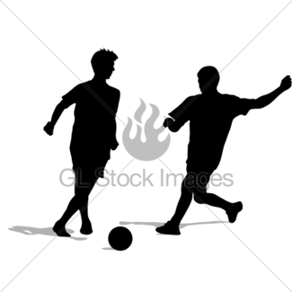 325x325 Soccer Football Player Silhouettes · GL Stock Images