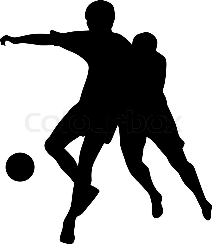 696x800 Soccer player collection silhouette vector Stock Vector Colourbox