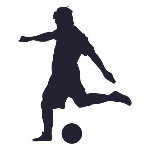 512x512 Soccer player shooting silhouette 1