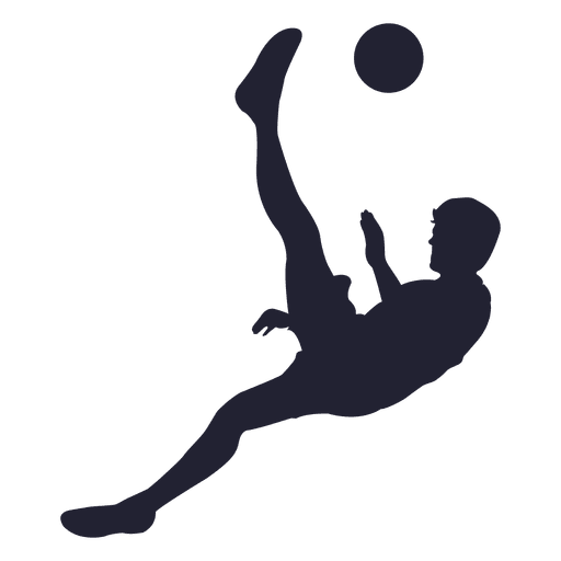 512x512 Soccer player shooting silhouette 3