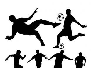 310x233 Soccer player silhouette free vectors UI Download