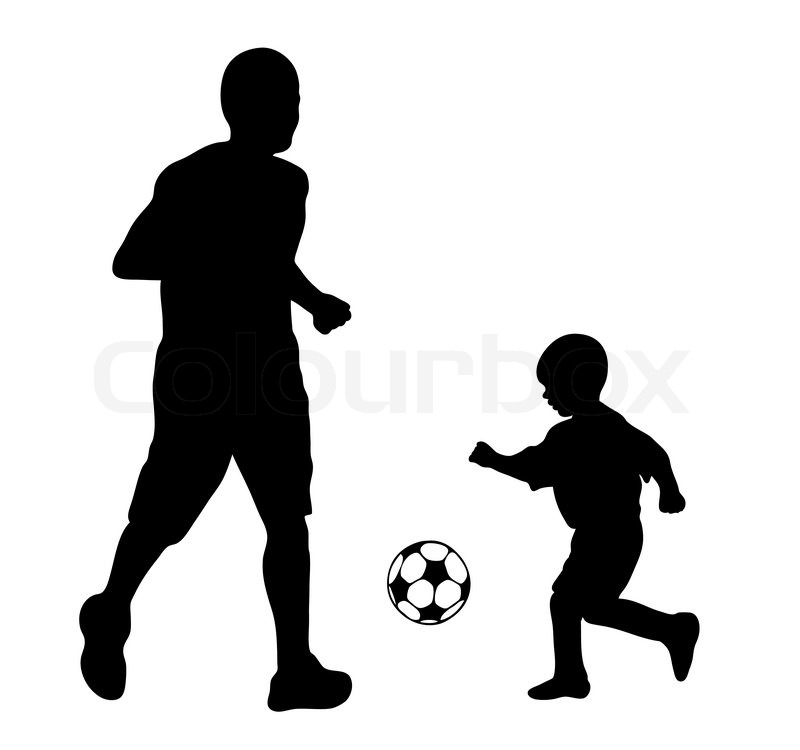 800x750 Vector silhouettes of soccer players Stock Vector Colourbox