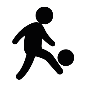 283x283 Boy Playing Soccer Silhouette Silhouette of Boy Playing Soccer