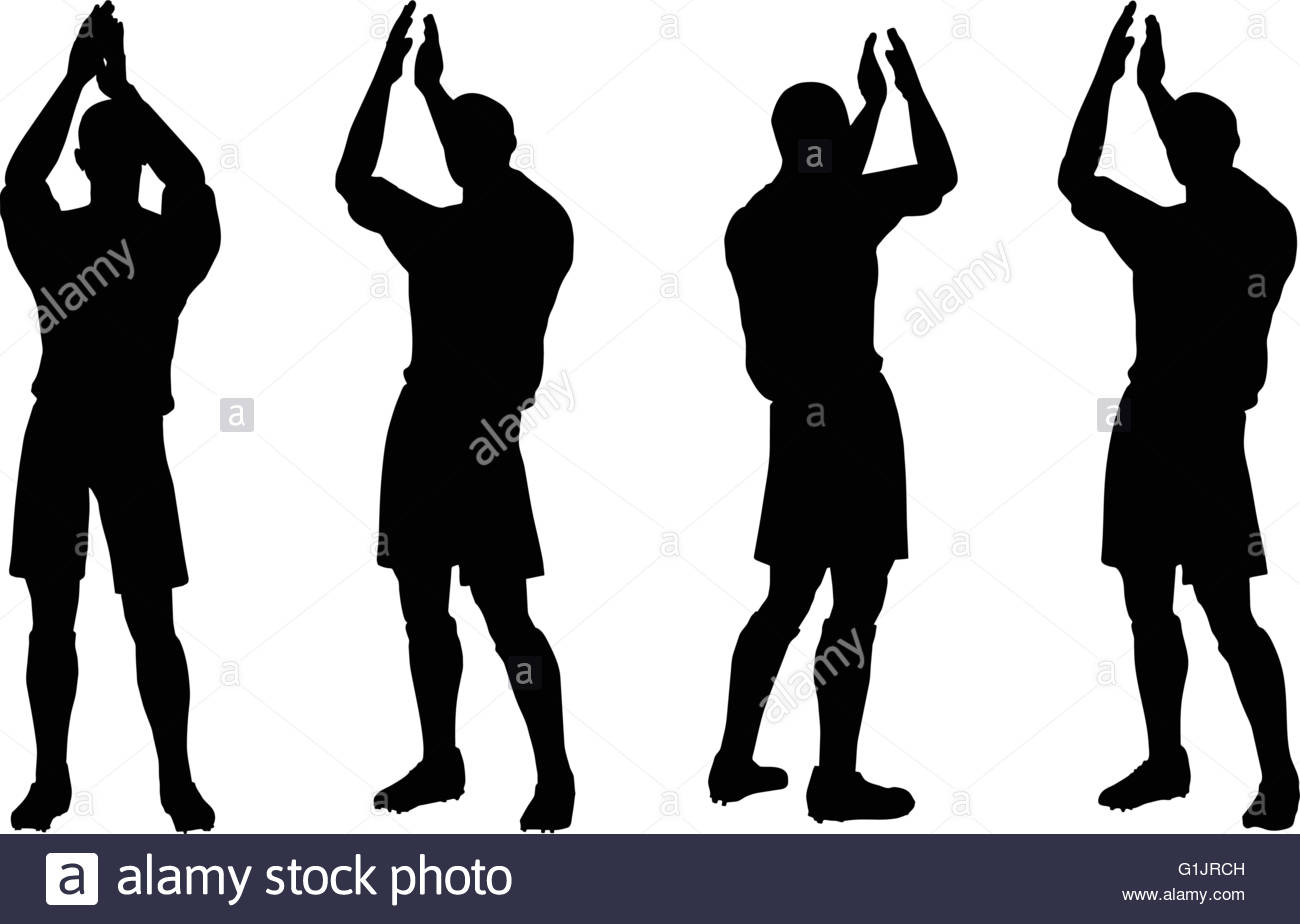 1300x924 isolated poses of soccer players silhouettes in rejoices position