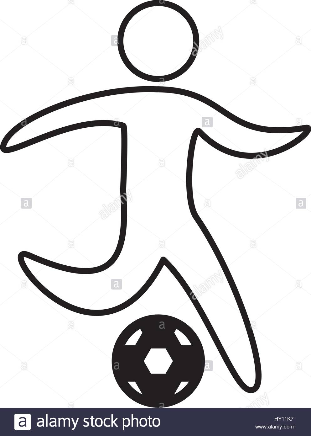 993x1390 soccer player silhouette icon Stock Vector Art amp Illustration