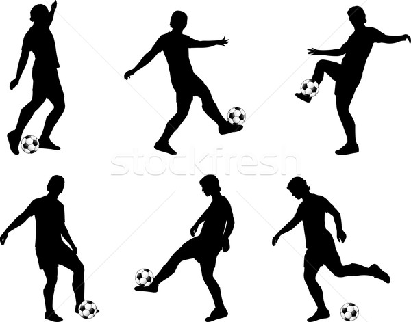 600x471 soccer players silhouettes vector illustration © Bojana Ilic