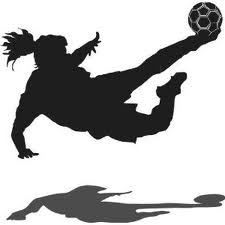 225x225 Girls Soccer Team Clipart