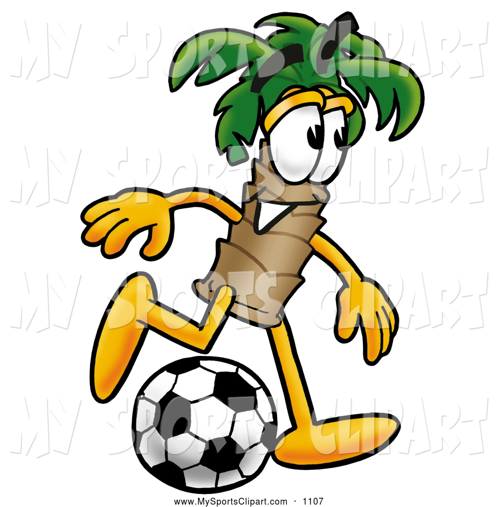 1024x1044 Sports Clip Art Of A Cheerful Palm Tree Mascot Cartoon Character