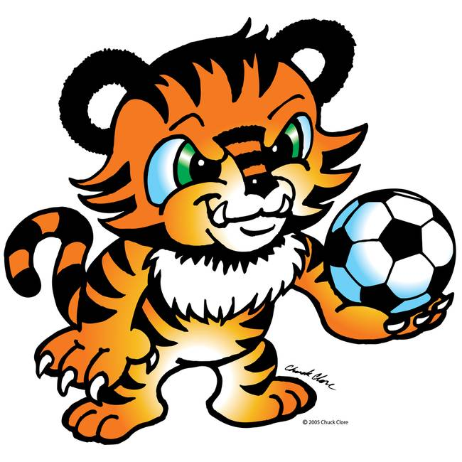 650x650 Tiger Clipart Soccer