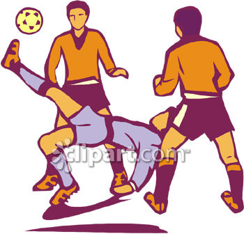 350x336 Playing Soccer Clipart