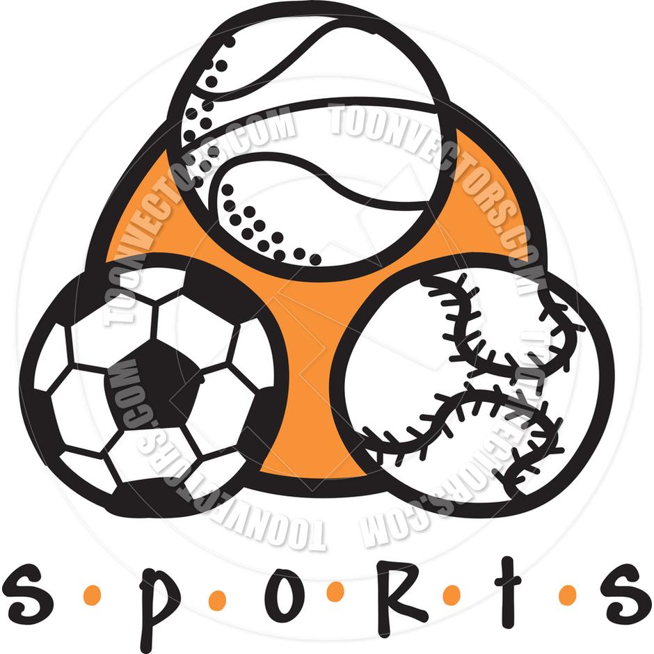 940x940 Cartoon Sports Vector Illustration By Clip Art Guy Toon Vectors