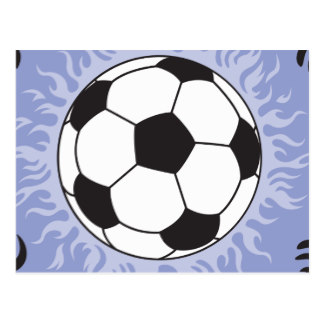 324x324 Flaming Soccer Ball Postcards Zazzle