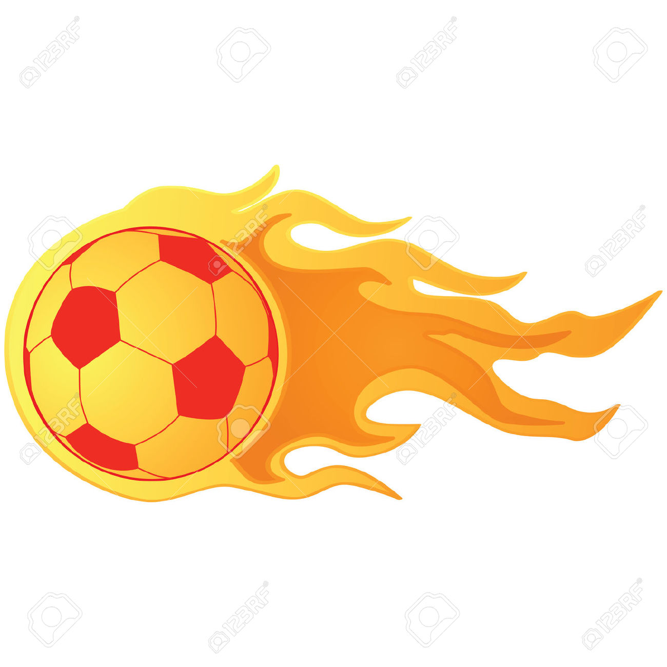 1300x1300 Flaming Soccer Ball Clipart