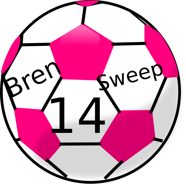 600x594 Free Pink Soccer Ball Clipart Image