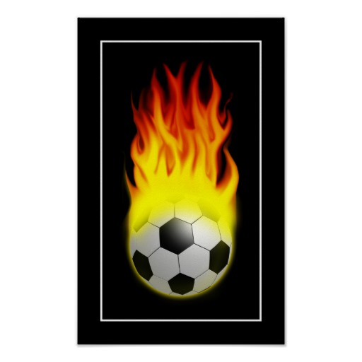 512x512 Hot Soccer Ball On Fire