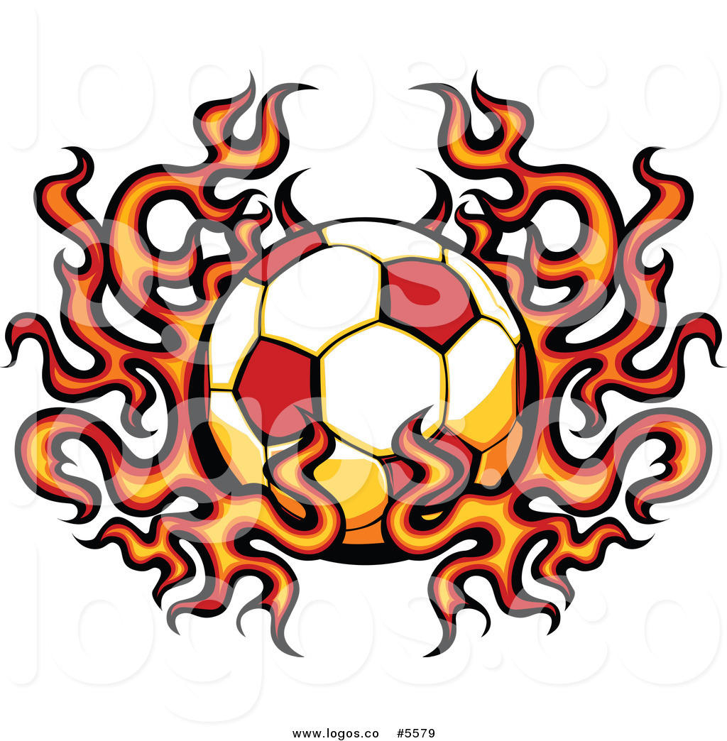 1024x1044 Royalty Free Stock Logo Designs Of Fiery Soccer Balls