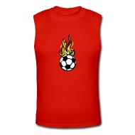 190x190 Shop Cartoon Soccer Ball In Flames T Shirts Online Spreadshirt