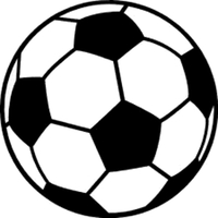 200x200 Soccer Ball Flames Decal