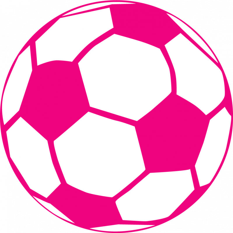 799x800 Soccer Clipart Pink