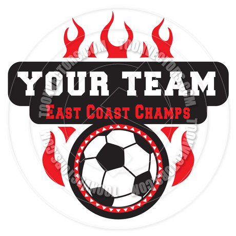 460x460 Vector Soccer Ball In Flames Banner By Koq Creative Toon Vectors