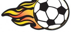 272x125 Flaming Soccer Ball Clip Art