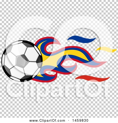 450x470 Clipart Of A Soccer Ball With Colombian Flag Flames