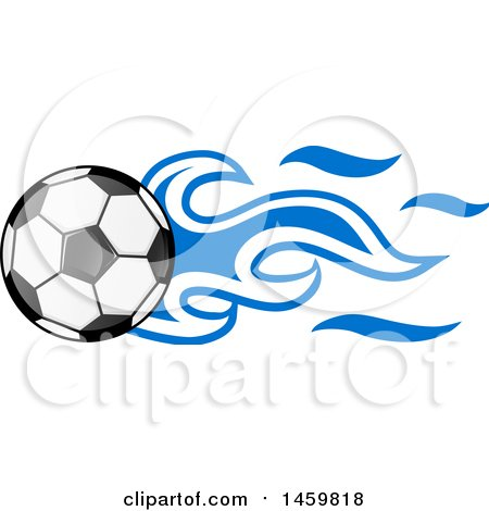 450x470 Clipart Of A Soccer Ball With Honduran Flag Flames