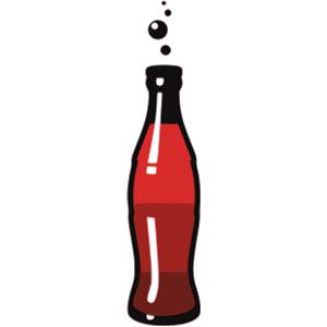 300x300 Soda Pop Bottle Clipart
