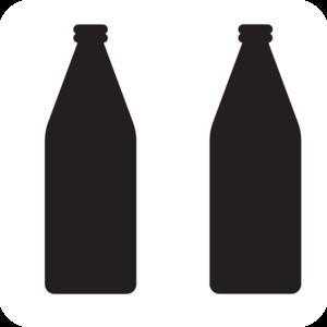 300x300 Two Soda Bottles Clip Art