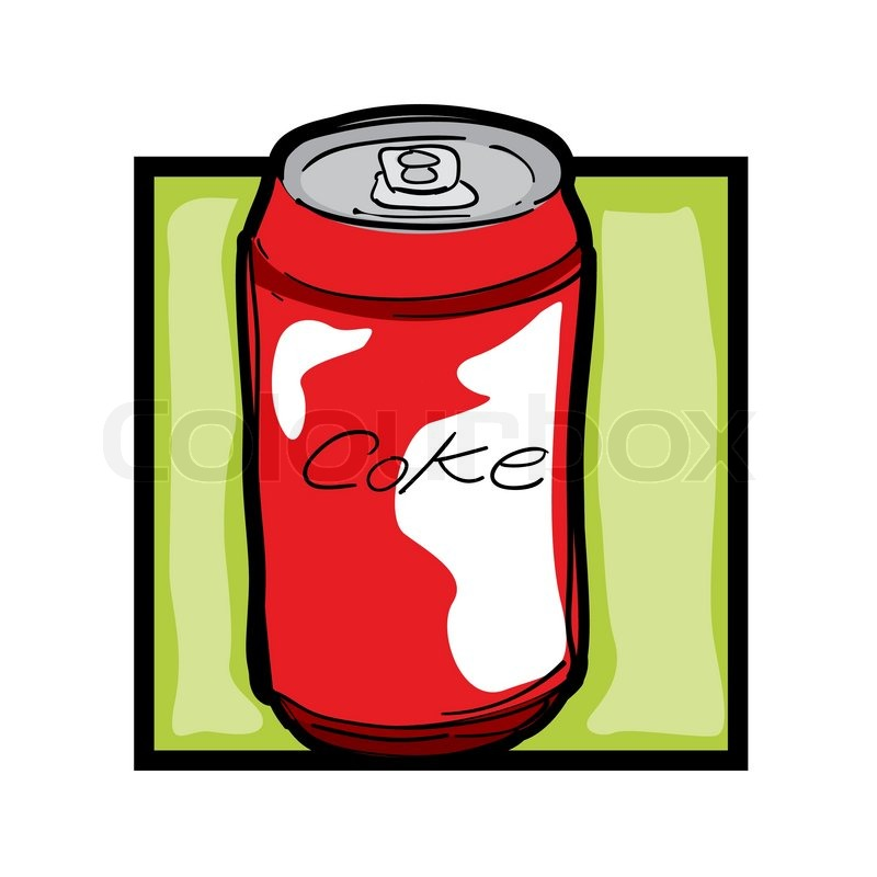 800x800 Classic Clip Art Graphic Icon With Soda Can Stock Vector Colourbox