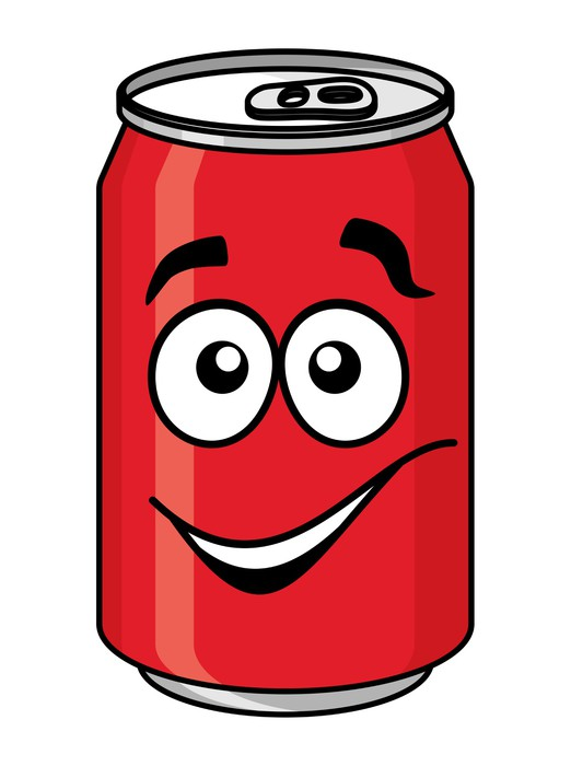 522x700 Red Cartoon Soda Or Soft Drink Can Wall Mural We Live