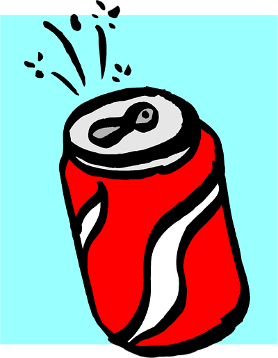400x515 Soda Can Cartoon Clipart