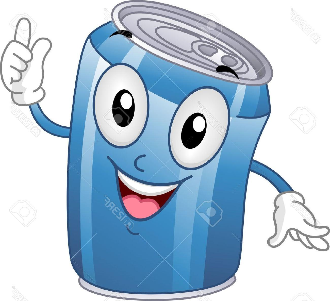 1300x1186 Best Mascot Illustration Featuring Soda Can Stock Cartoon File Free