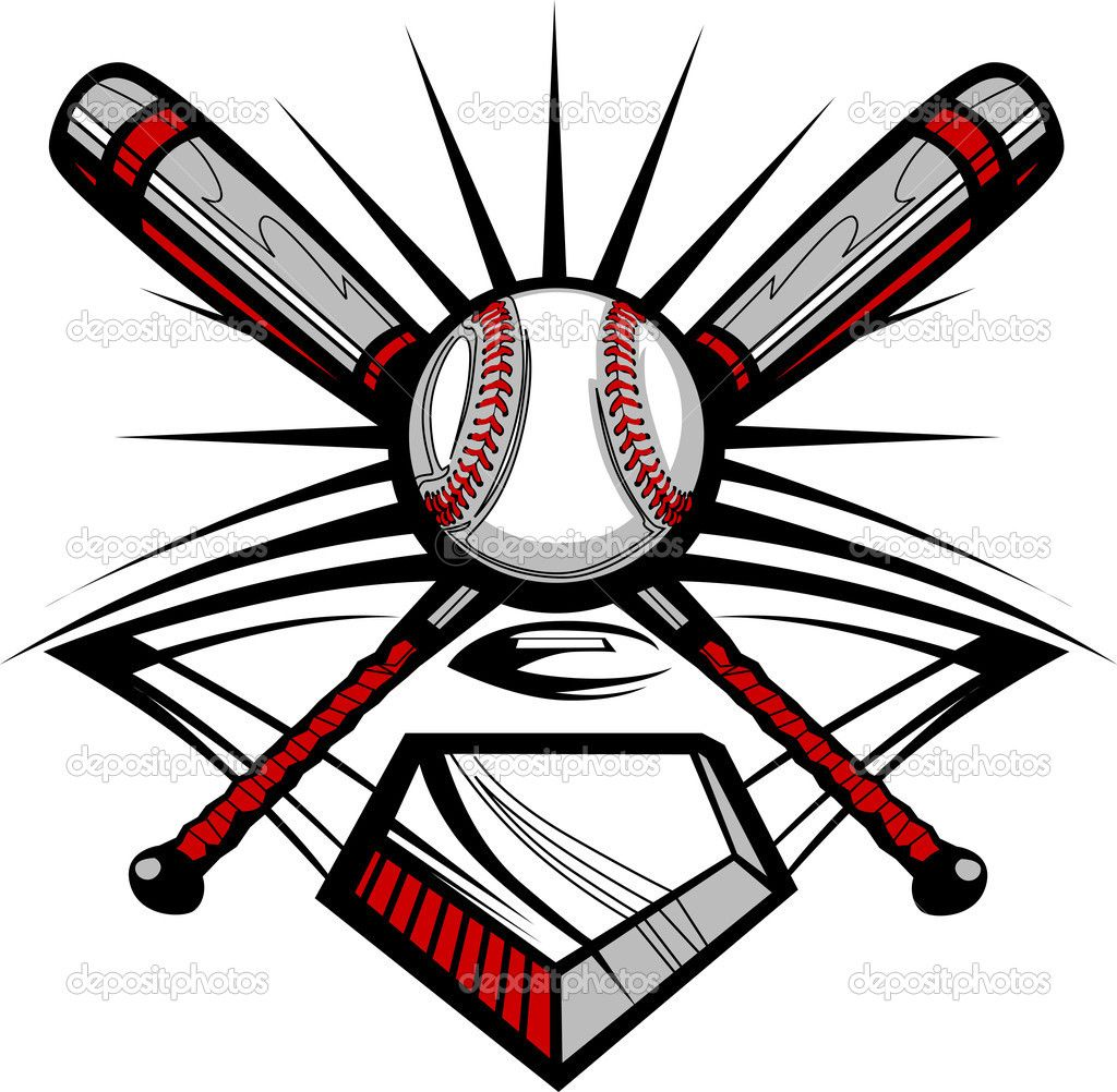 1024x1002 Softball With Flames Clip Art Baseball Or Softball Crossed Bats