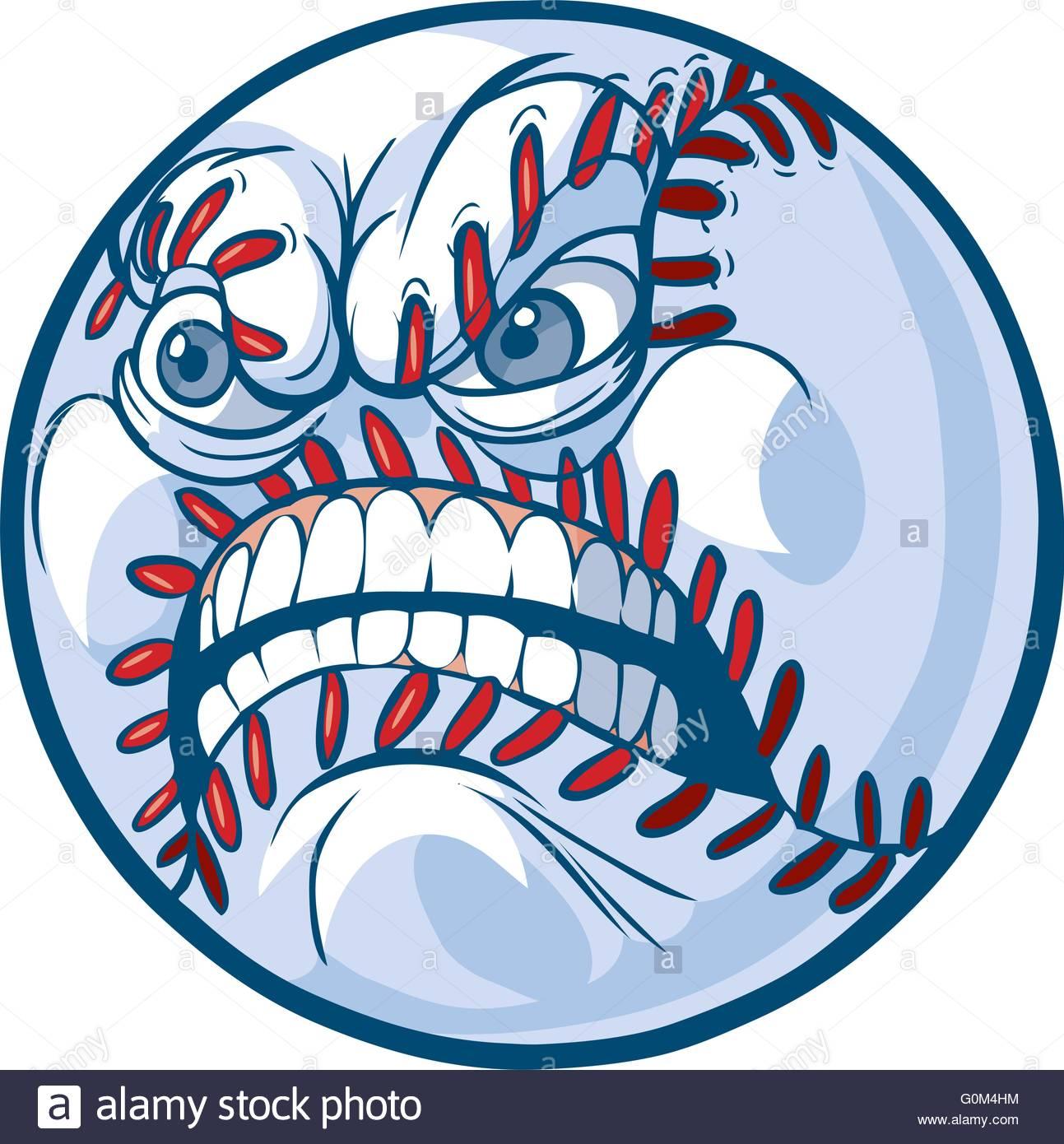 1293x1390 Vector Cartoon Clip Art Illustration Of A Baseball Or Softball